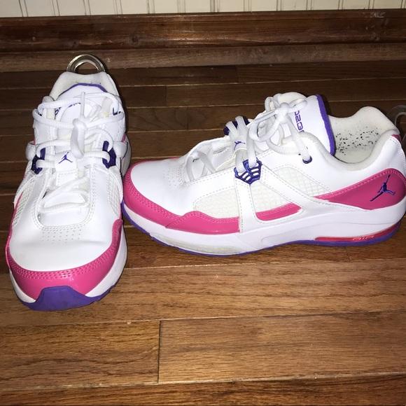 80120acb86a Jordan Shoes - Women's Jordan shoe: pink and purple- 6Y & 7 adult
